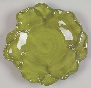 Roscher & Co Antique Green Leaf Collection Salad Plate, Fine China Dinnerware