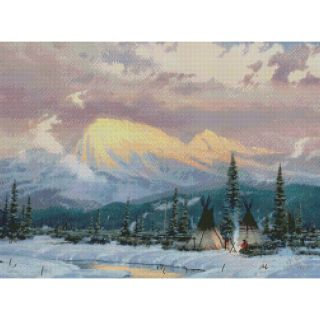 Lingering Dusk Counted Cross Stitch Kit