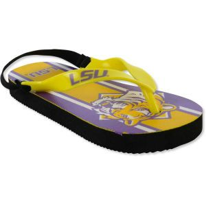 LSU Tigers Forever Collectibles Elastic Back Mascot Sandal