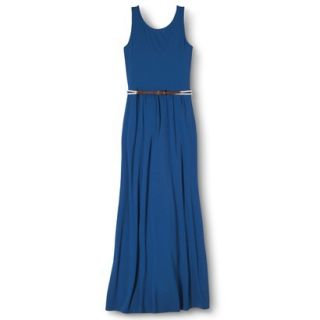 Merona Womens Maxi Dress w/Belt   Influential Blue   XL