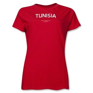 Tunisia 2013 FIFA U 17 World Cup UAE Womens T Shirt (Red)