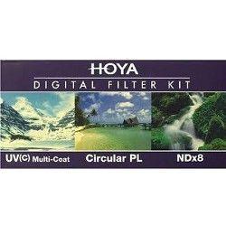 Hoya 72mm Digital Filter Kit With UV, Circular Polarizer, NDX8