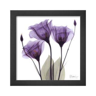 ART Royal Purple Gentian Trio Framed Print Wall Art