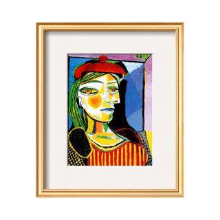 ART Girl with Red Beret Framed Print Wall Art
