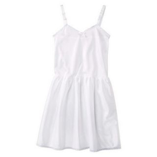Girls Nylon Full Slip   White 6X