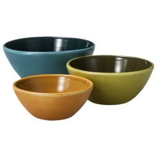 Threshold Stoneware Round 3   Piece Mini Bowl Set   Multicolor