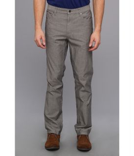 Kenneth Cole Sportswear 5 Pocket Mini Grid Pant Mens Casual Pants (Gray)