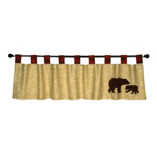 Trend Lab Northwoods Tab Top Valance, Red/Tan/Brown