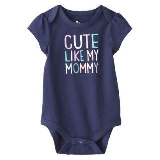 Circo Newborn Girls Cute Like Mommy Bodysuit   Blue 18 M