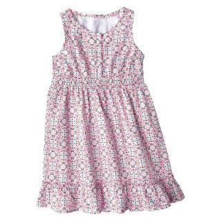 Girls Sleeveless Button Front Shirt Dress   Multicolor S