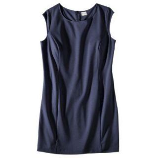 Merona Womens Plus Size Sleeveless Ponte Sheath Dress   Navy Blue 3