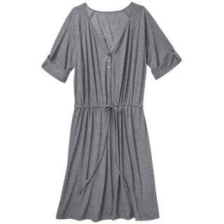 Merona Womens Plus Size 3/4 Sleeve Tie Waist Dress   Gray 1
