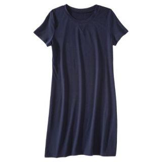 Merona Womens Knit T Shirt Dress   Xavier Navy   XL