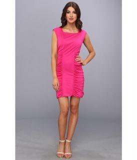 BCBGMAXAZRIA Renee Side Ruched Dress Womens Dress (Pink)