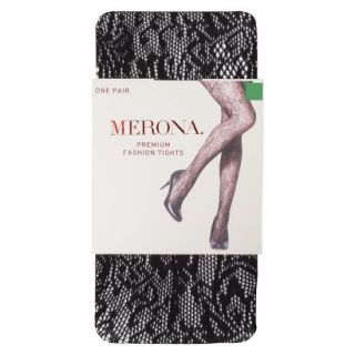 Merona Womens Opaque Sheer Tights   Large Floral Rachelle M/L