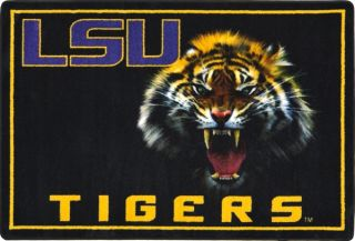 LSU Tigers College Mascot Rug