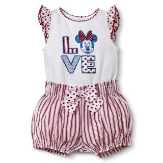 Disney Newborn Girls 2 Piece Minnie Mouse Set   White/Red 0 3 M