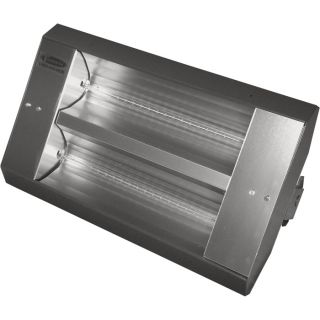 TPI Indoor/Outdoor Quartz Infrared Heater   17,065 BTU, 240 Volts, Galvanized