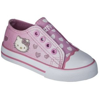 Toddler Girls Hello Kitty Canvas Sneaker   Pink 6