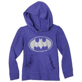 Batgirl Infant Toddler Girls Long Sleeve Hooded Tee   Purple 24M