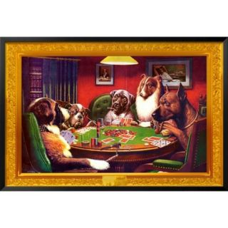 Art   Dogs Playing Poker Framed Poster