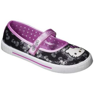 Girls Hello Kitty Sequin Sneaker   Black 5