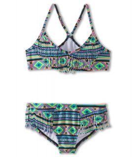 Billabong Kids Heat Wave Racerback Set Girls Swimwear Sets (Blue)
