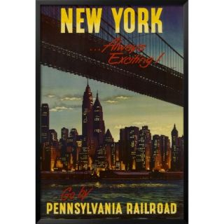 Art   New York by Pennsylvania Railroad Framed Poster