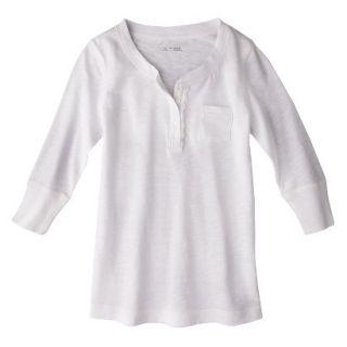 Cherokee Girls 3/4 Sleeve Shirt   Fresh White M