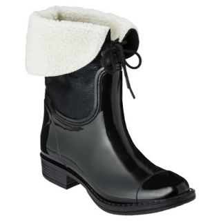 Womens Merona Zajac Rain Boot   Black 7