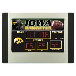 Team Sports America Iowa Scoreboard Desk Clock