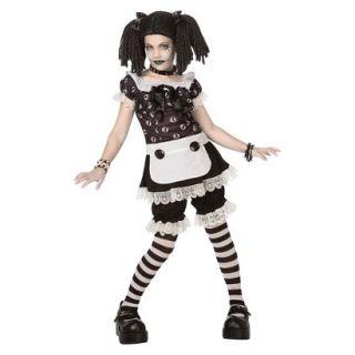 Tween Girls Gothic Rag Doll Costume