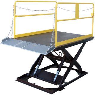 Vestil Scissor Dock Lift   Electric/Hydraulic, 5000 lb. Capacity, 120 Inch L x