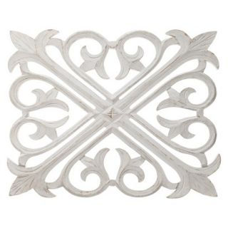 Threshold Wood Carving   New White