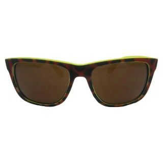 Womens Rubberized Surf Sunglasses   Tort/Yellow