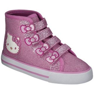 Toddler Girls Hello Kitty High Top Sneaker   Pink 5