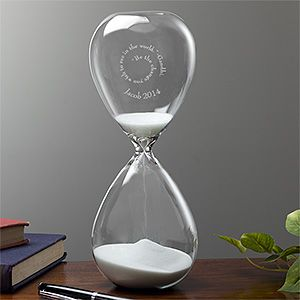 Personalized Hourglass with Inspirational Quote