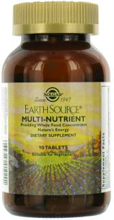 Solgar   Earth Source Multi Nutrient Providing Whole Food Concentrates   90 Tablets