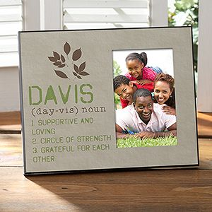 Personalized Family Picture Frames   Definition Of Our Family