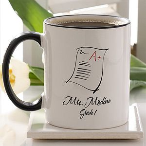 Personalized Teacher Ceramic Coffee Mug   Making The Grade
