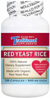 Traditional Supplements   Red Yeast Rice Dietary Supplement 600 mg.   120 Capsules