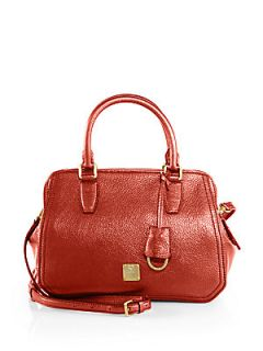 MCM First Lady Small Boston Bag   Chinese Red