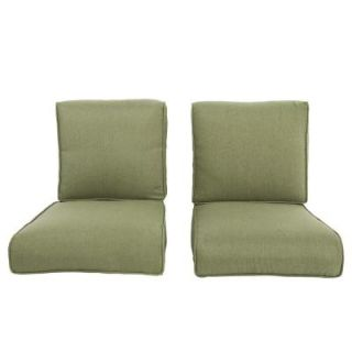 Hampton Bay Pembrey Replacement Outdoor Lounge Chair Cushion (2 Pack) HD14223