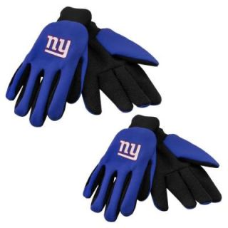 Forever Collectibles NFL License New York Giants Team Work Glove Large 2 Pack GLVWKNF11NG