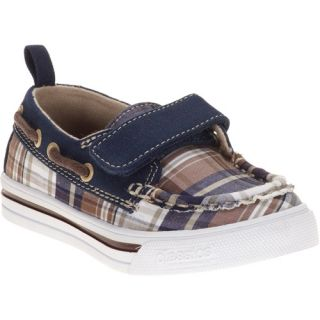 Classics by Buster Brown Toddler Boys Blue Plaid Boat Shoes Baby Clothing