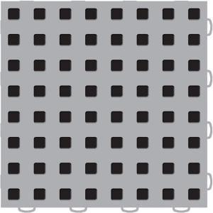 WeatherTech TechFloor 12 in. x 12 in. Grey/Black Vinyl Flooring Tiles (Quantity of 10) 51T1212 GR BK