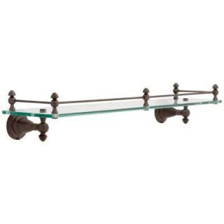Delta Victorian 3 in. W Glass Shelf with Rail in Venetian Bronze 75010 RB
