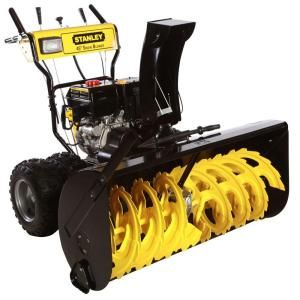 Stanley 45 in. Commercial Duty Two Stage Electric Start Gas Snow Blower with Drift Cutters Included DISCONTINUED 45SS