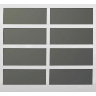 Martin Garage Doors David O. Martin Collection Athena Design 211 9 ft. x 7 ft. White Frosted Acrylic Windows Garage Door HDIY 000635