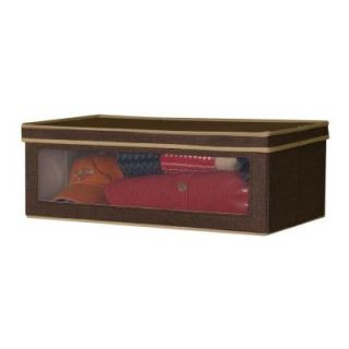 Household Essentials Large Vision Box Coffee Linen 634